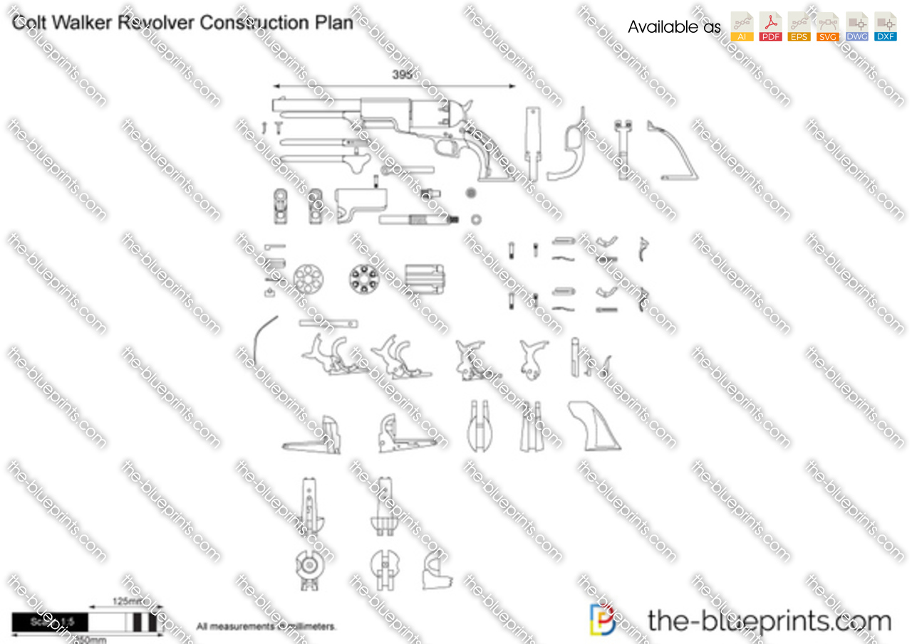 Colt Walker Revolver Construction Plan