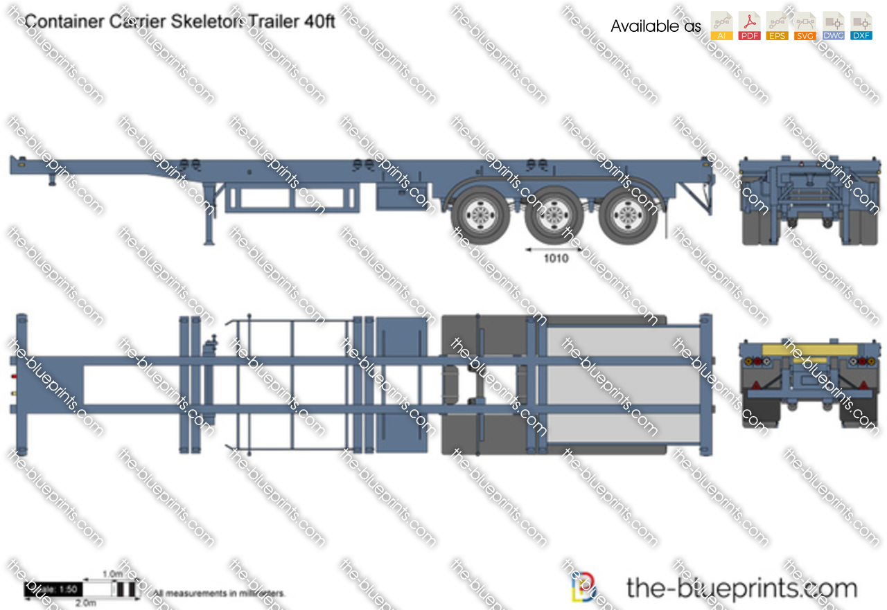 Container Carrier Skeleton Trailer 40ft