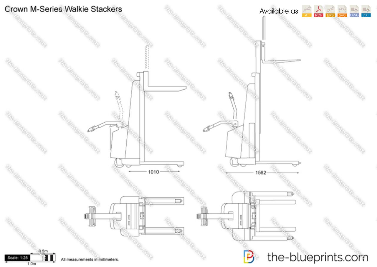 Crown M-Series Walkie Stackers