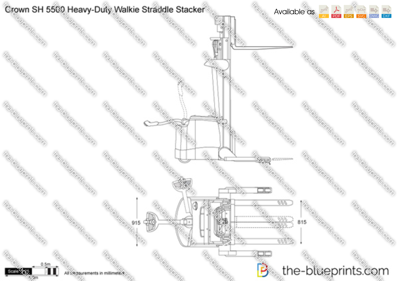 Crown SH 5500 Heavy-Duty Walkie Straddle Stacker