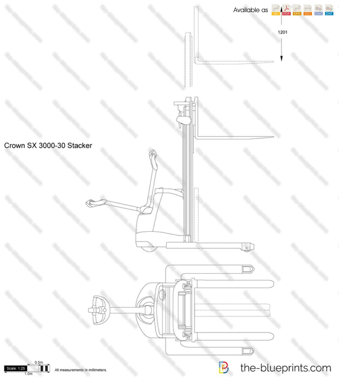 Crown SX 3000-30 Stacker