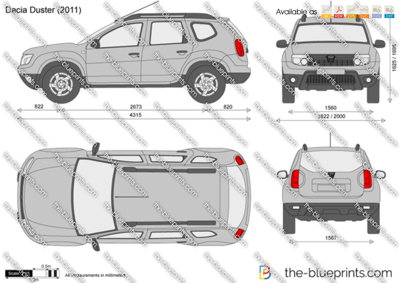 the vector drawing dacia duster. Black Bedroom Furniture Sets. Home Design Ideas