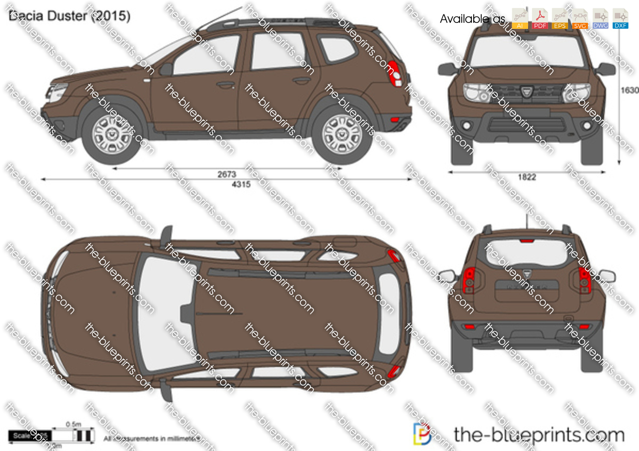 Dacia Duster Vector Drawing