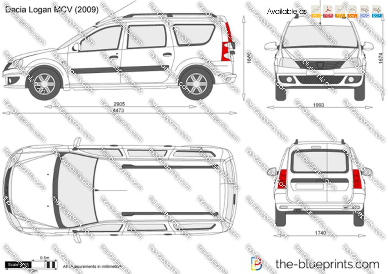 The Blueprints Com Vector Drawing Dacia Logan Mcv
