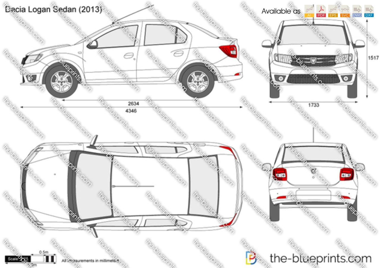dacia logan sedan vector drawing. Black Bedroom Furniture Sets. Home Design Ideas