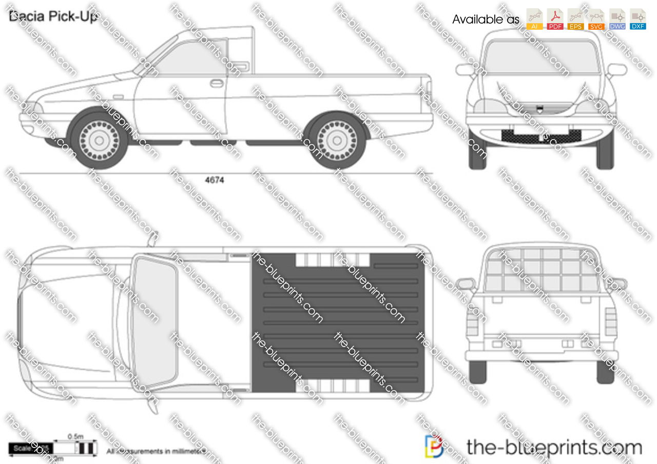 the vector drawing dacia pick up. Black Bedroom Furniture Sets. Home Design Ideas