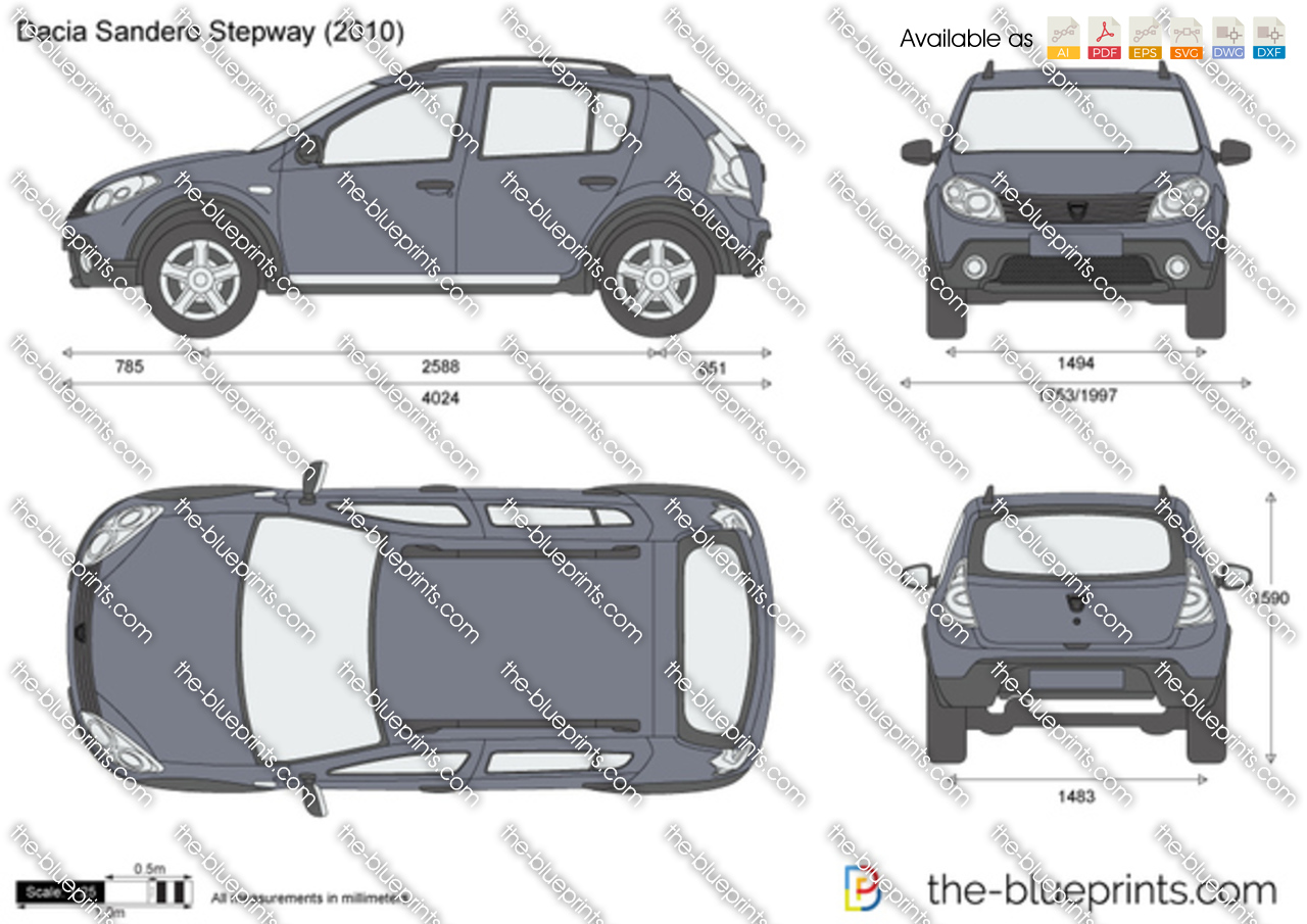 the vector drawing dacia sandero stepway. Black Bedroom Furniture Sets. Home Design Ideas