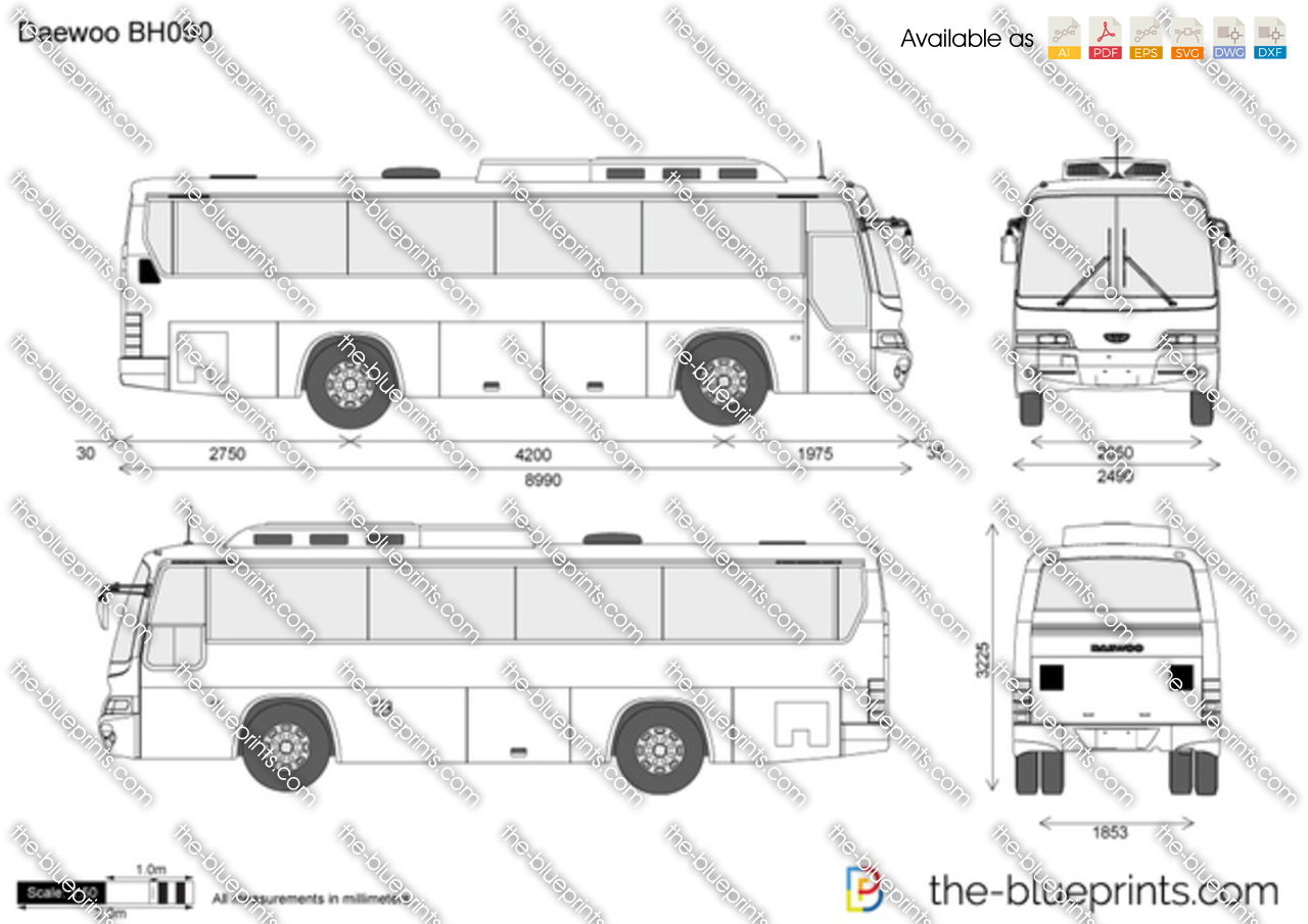 Daewoo bh090 vector drawing for How to make a blueprint