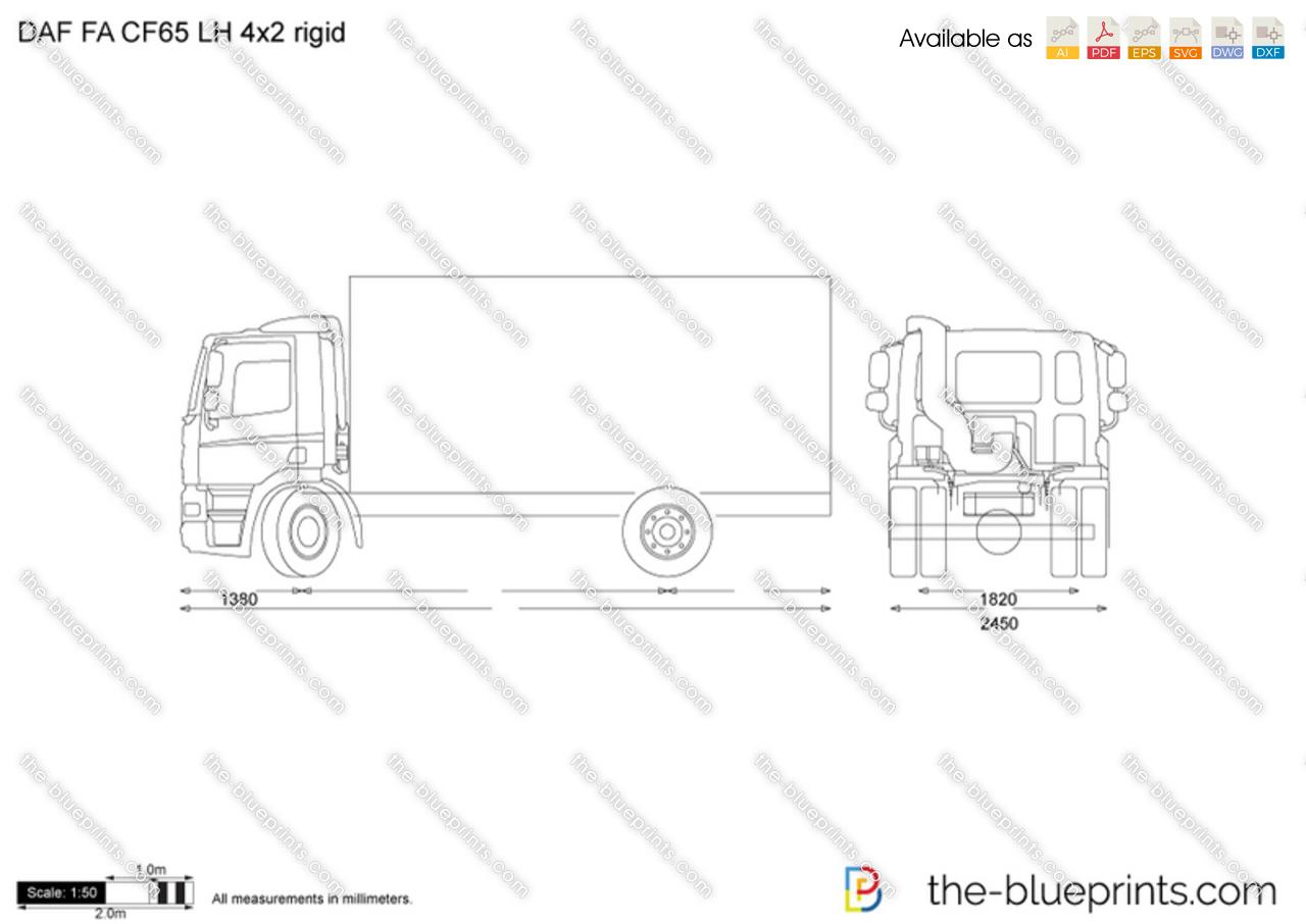 DAF FA CF65 LH 4x2 rigid