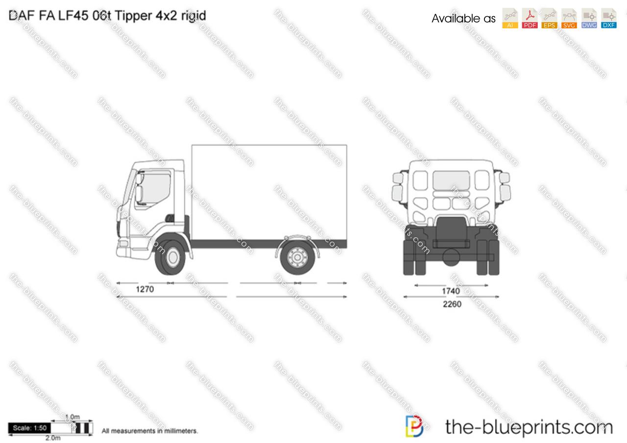 DAF FA LF45 06t Tipper 4x2 rigid