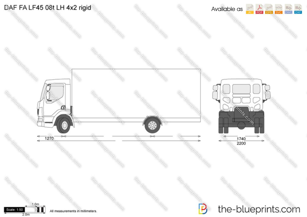 DAF FA LF45 08t LH 4x2 rigid