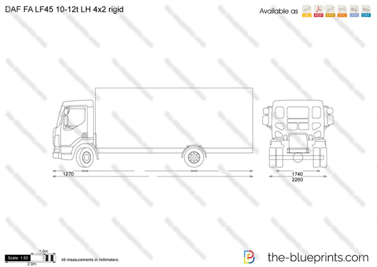 DAF FA LF45 10-12t LH 4x2 rigid