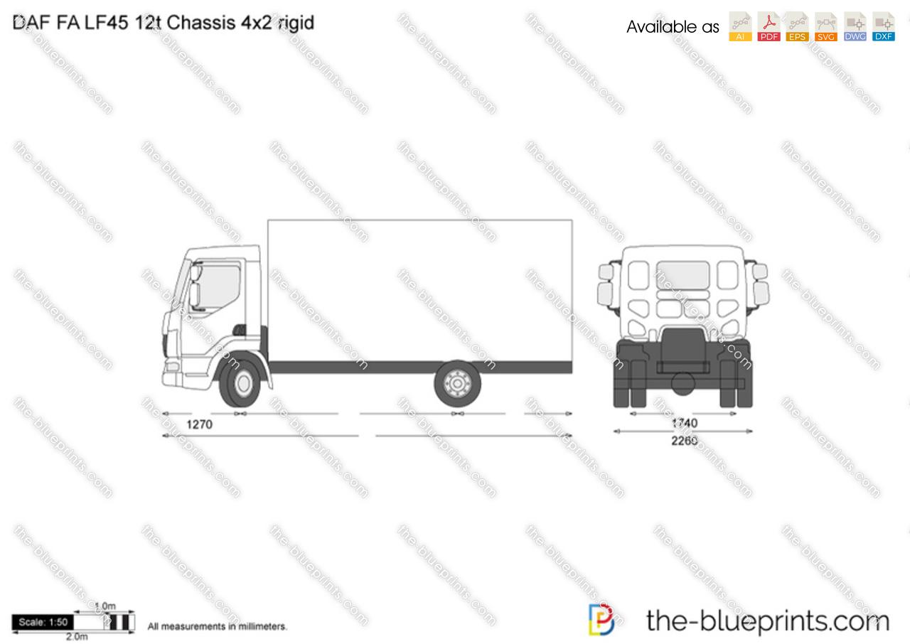 DAF FA LF45 12t Chassis 4x2 rigid