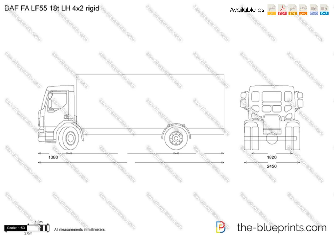 DAF FA LF55 18t LH 4x2 rigid