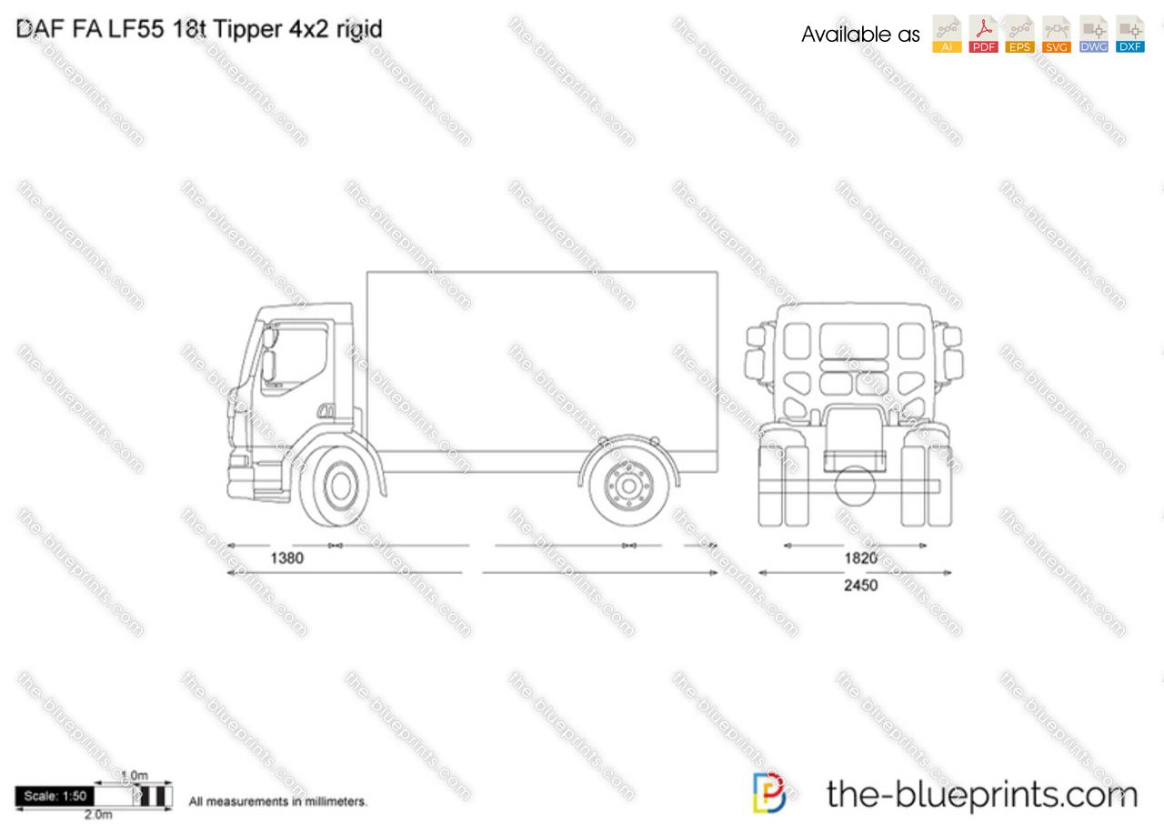 DAF FA LF55 18t Tipper 4x2 rigid