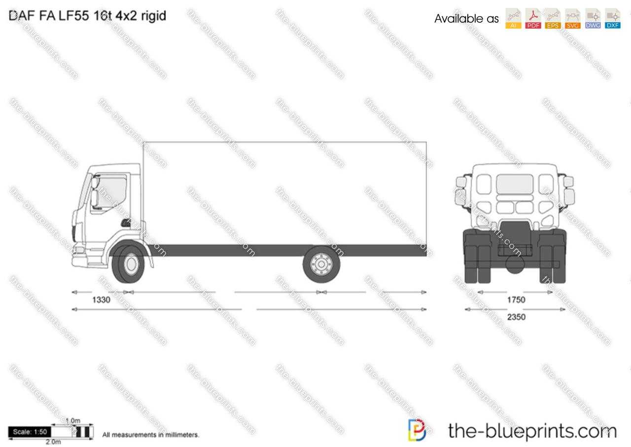DAF FAG CF75 6x2 rigid