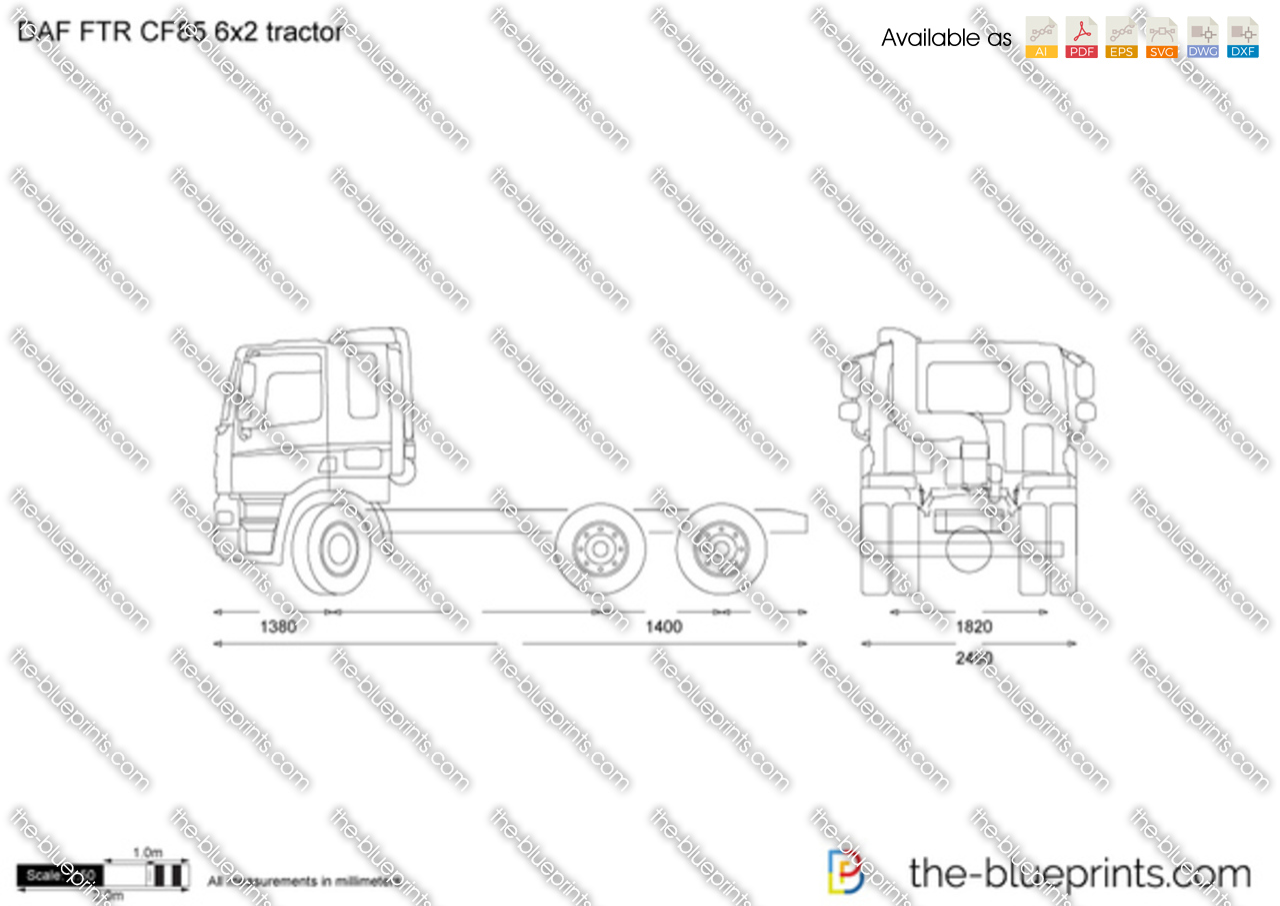 DAF FTR CF85 6x2 tractor