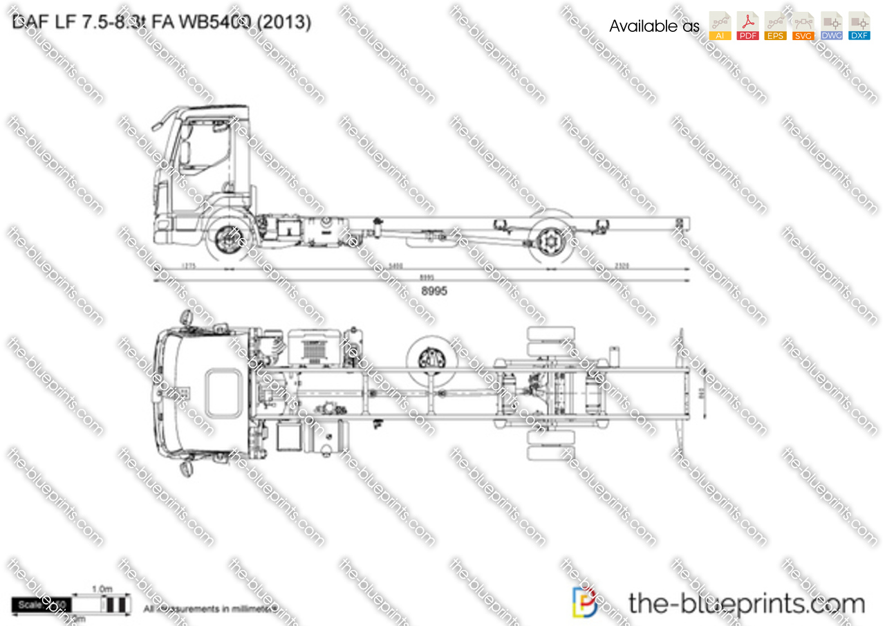 DAF LF 7.5-8.3t FA WB5400