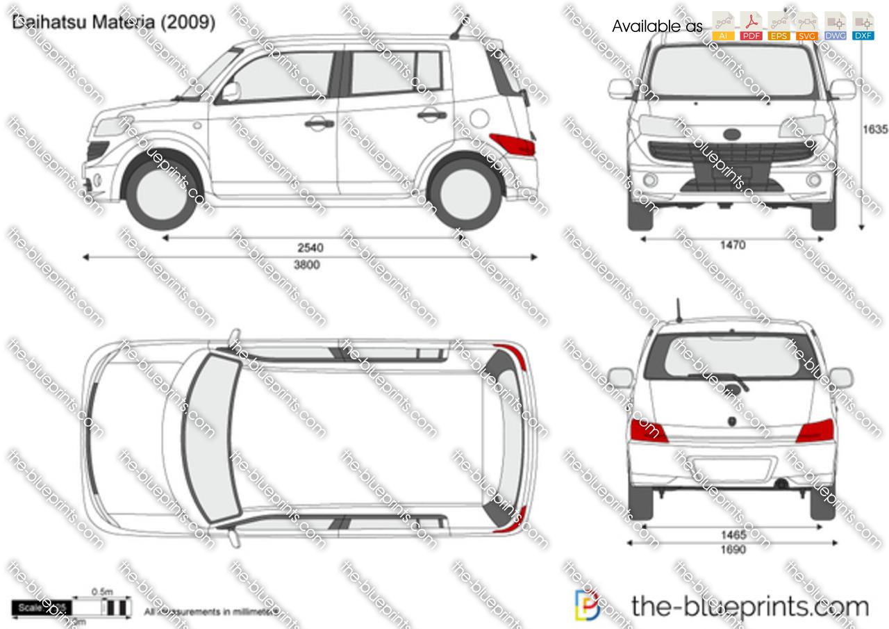 Daihatsu Materia Vector Drawing
