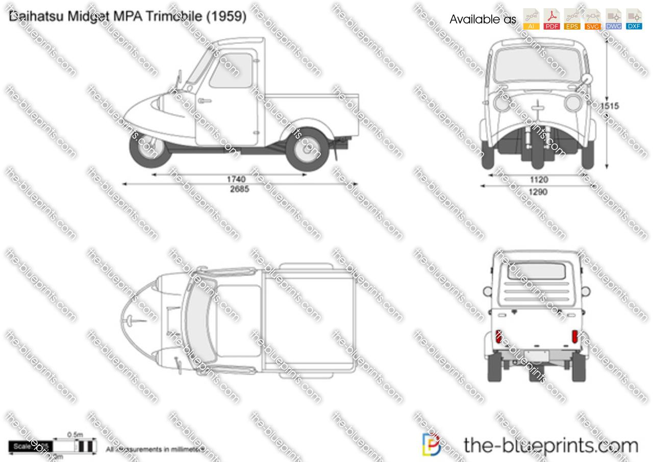 Daihatsu Midget MPA Trimobile
