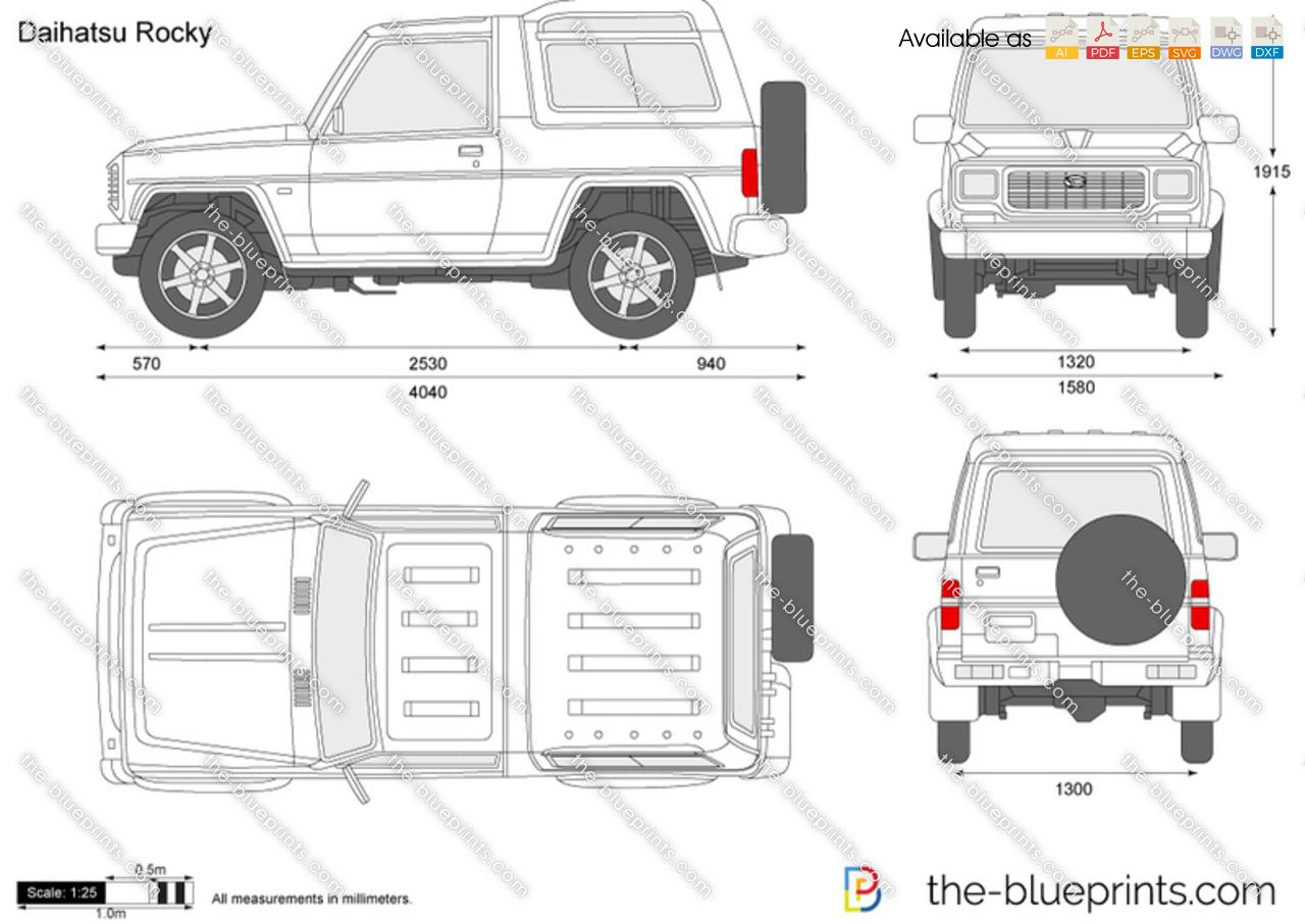 Daihatsu Rocky Vector Drawing