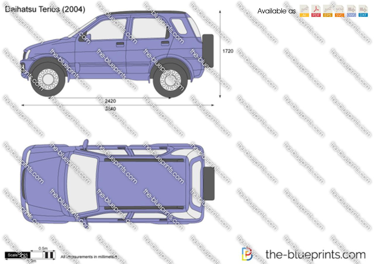 Daihatsu Terios Vector Drawing
