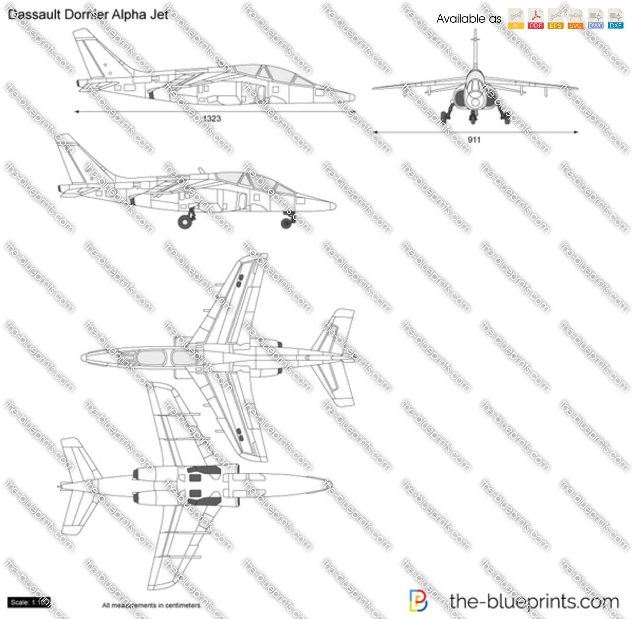 The blueprints vector drawing dassault dornier alpha jet dassault dornier alpha jet malvernweather Choice Image