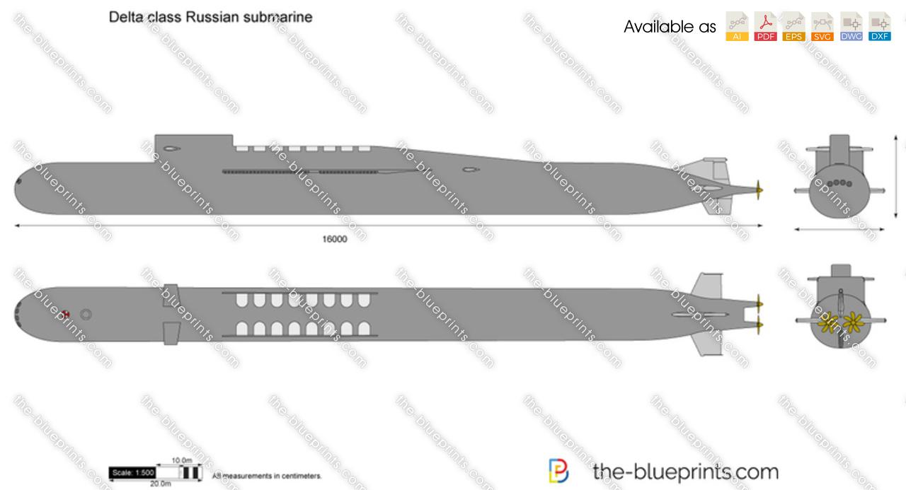 Delta class Russian submarine