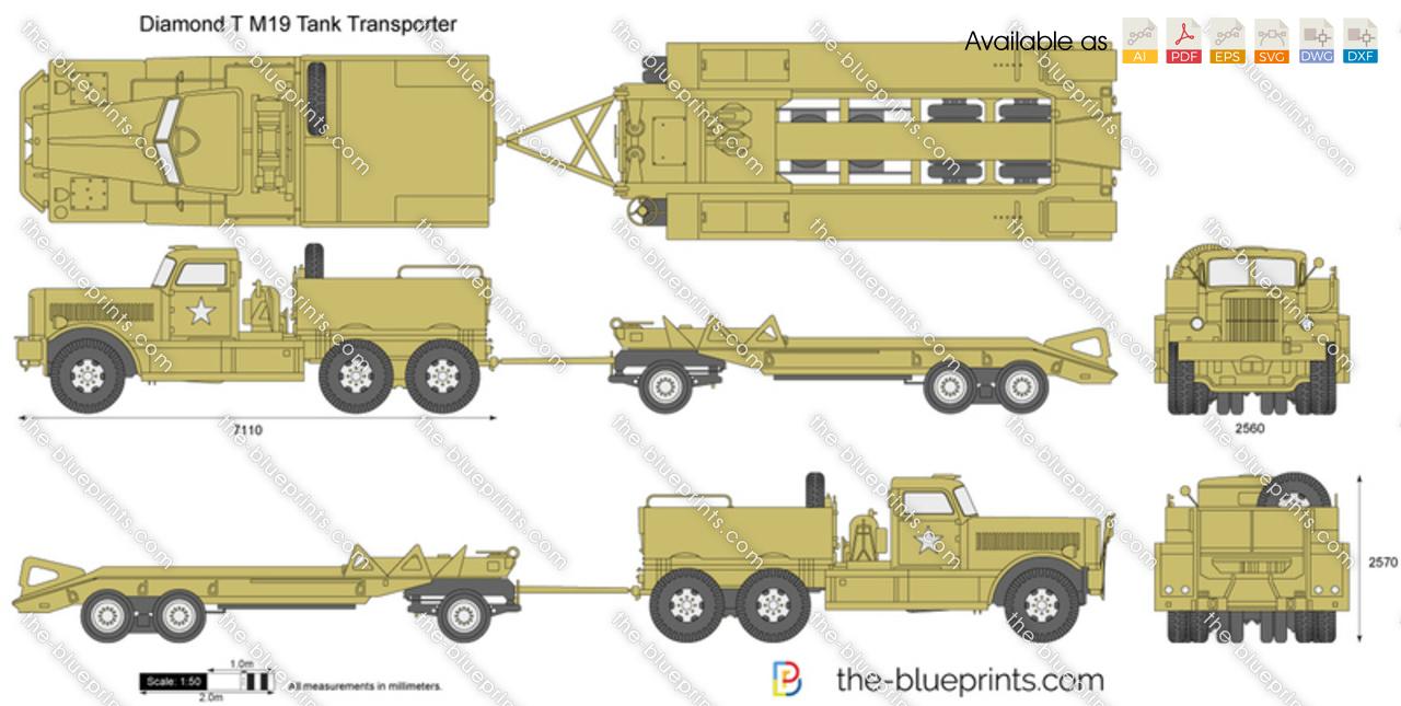 Diamond T M19 Tank Transporter