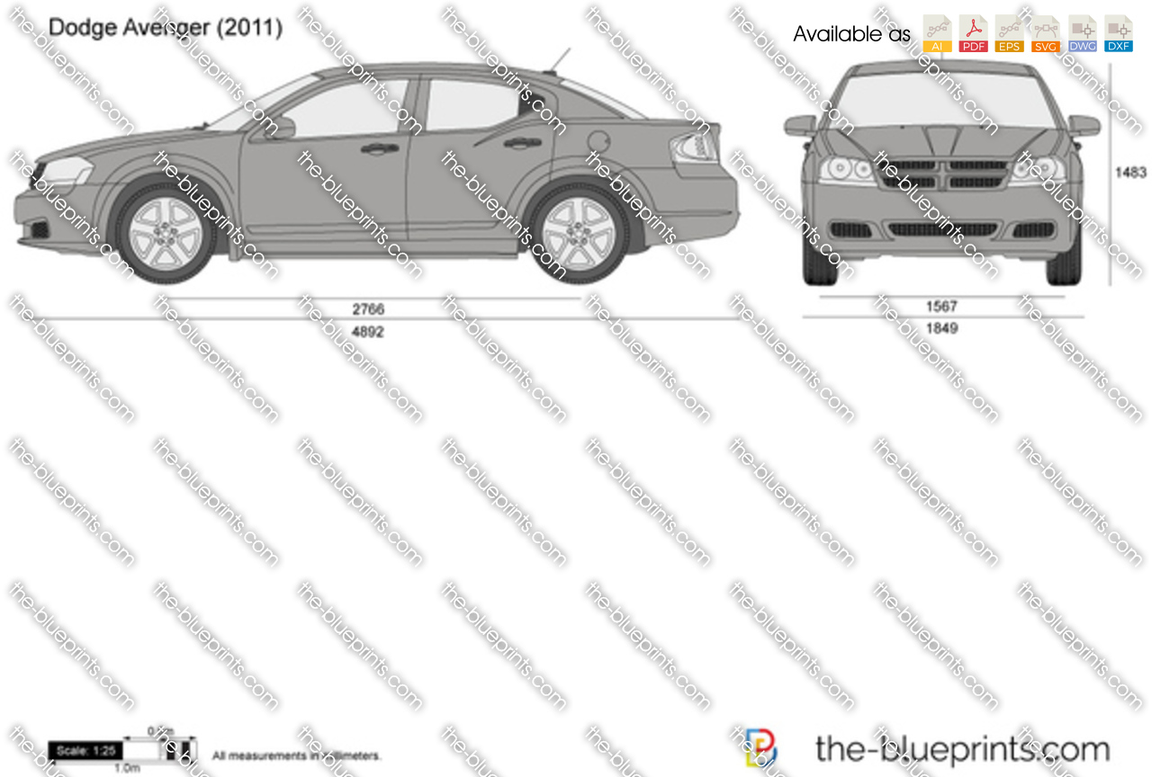 Dodge Avenger Vector Drawing