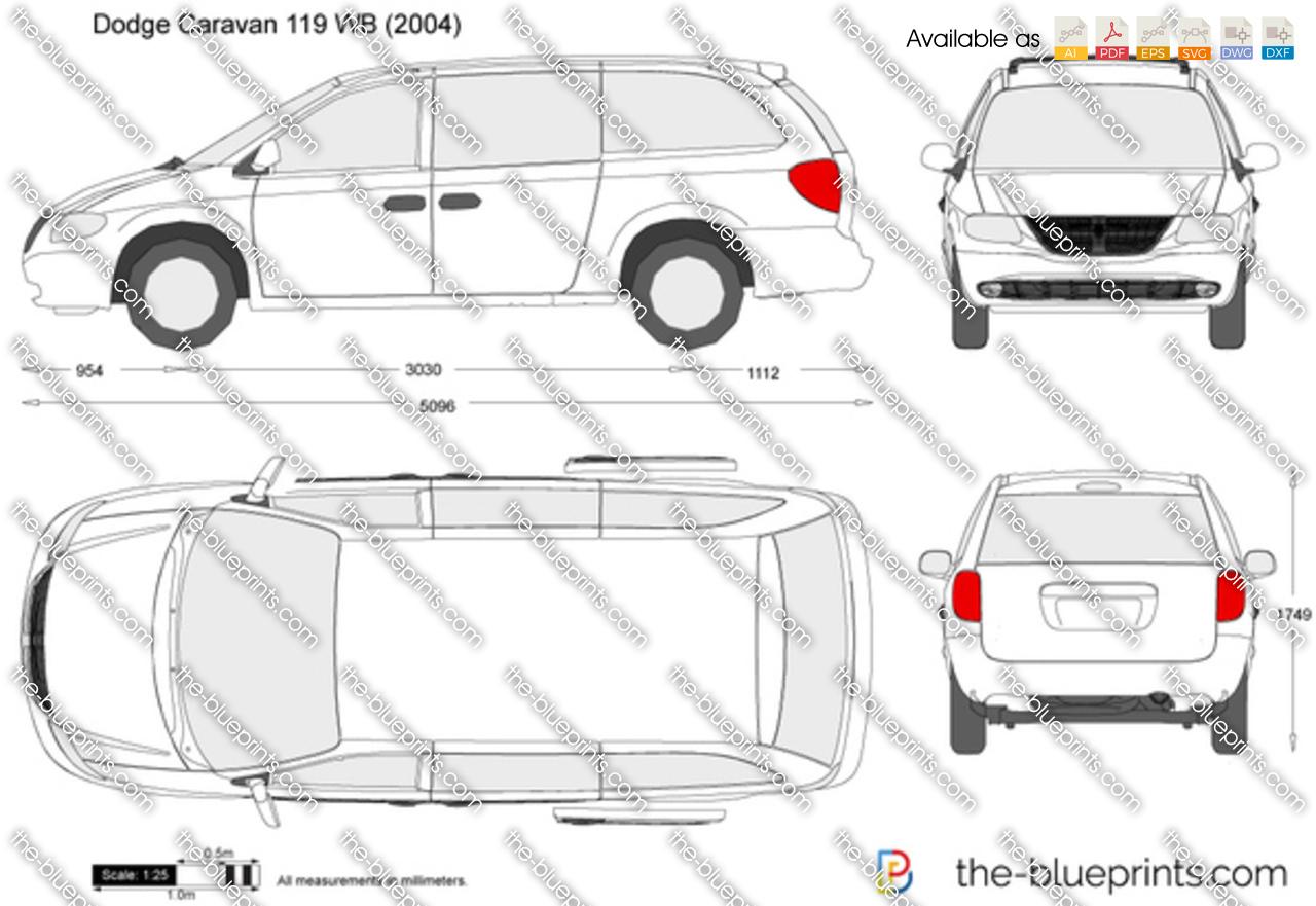 Dodge Caravan For Sale >> Dodge Caravan 119 WB vector drawing