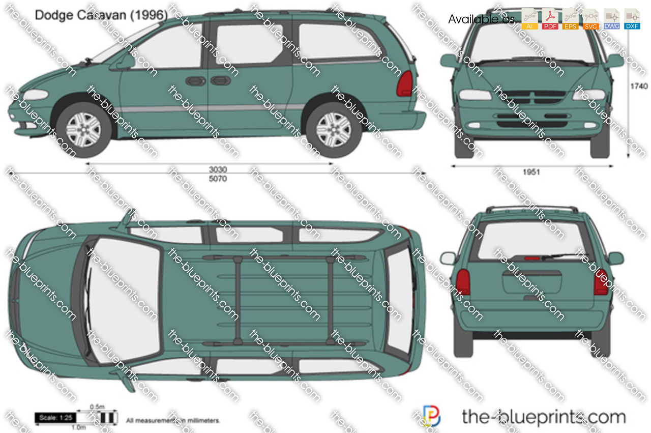 Dodge Caravan Vector Drawing