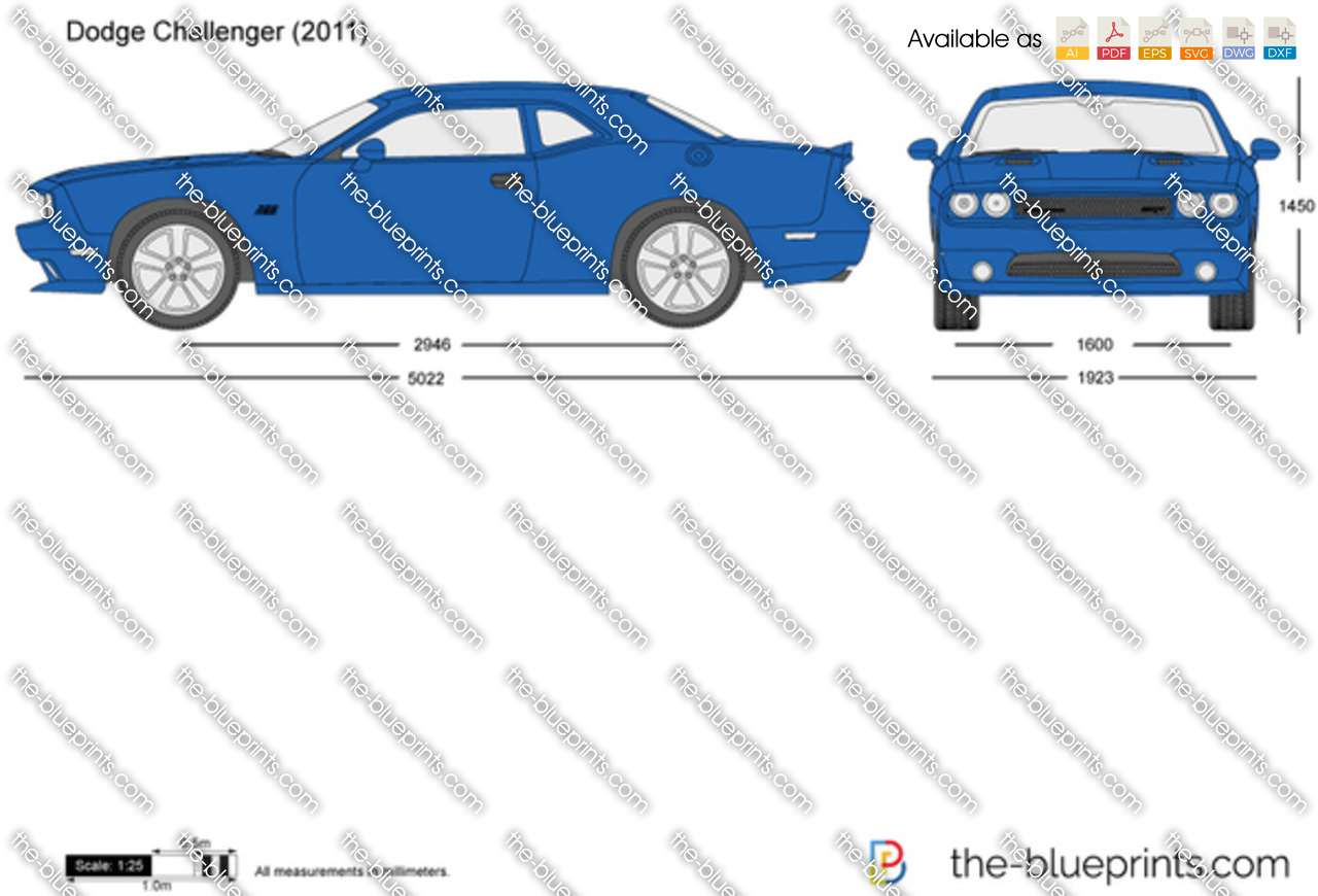 Dodge Challenger Vector Drawing