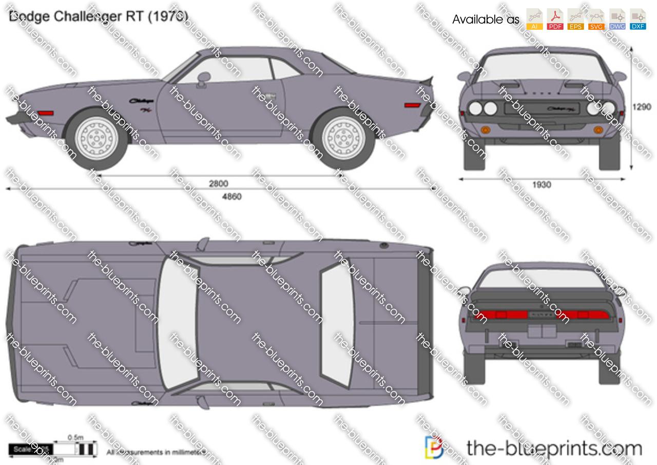 The Blueprints Com Vector Drawing Dodge Challenger R T