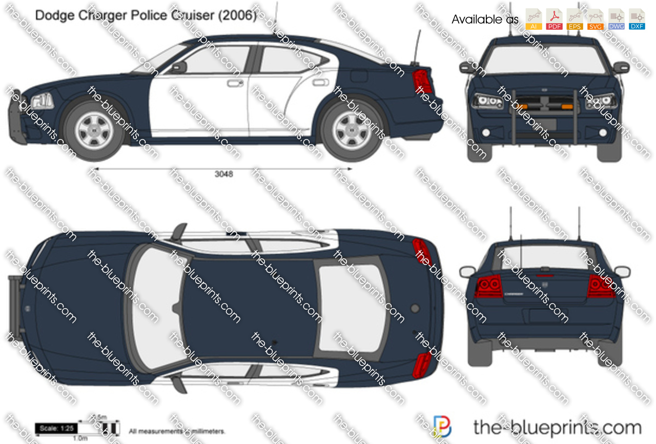 The Blueprints Com Vector Drawing Dodge Charger Police
