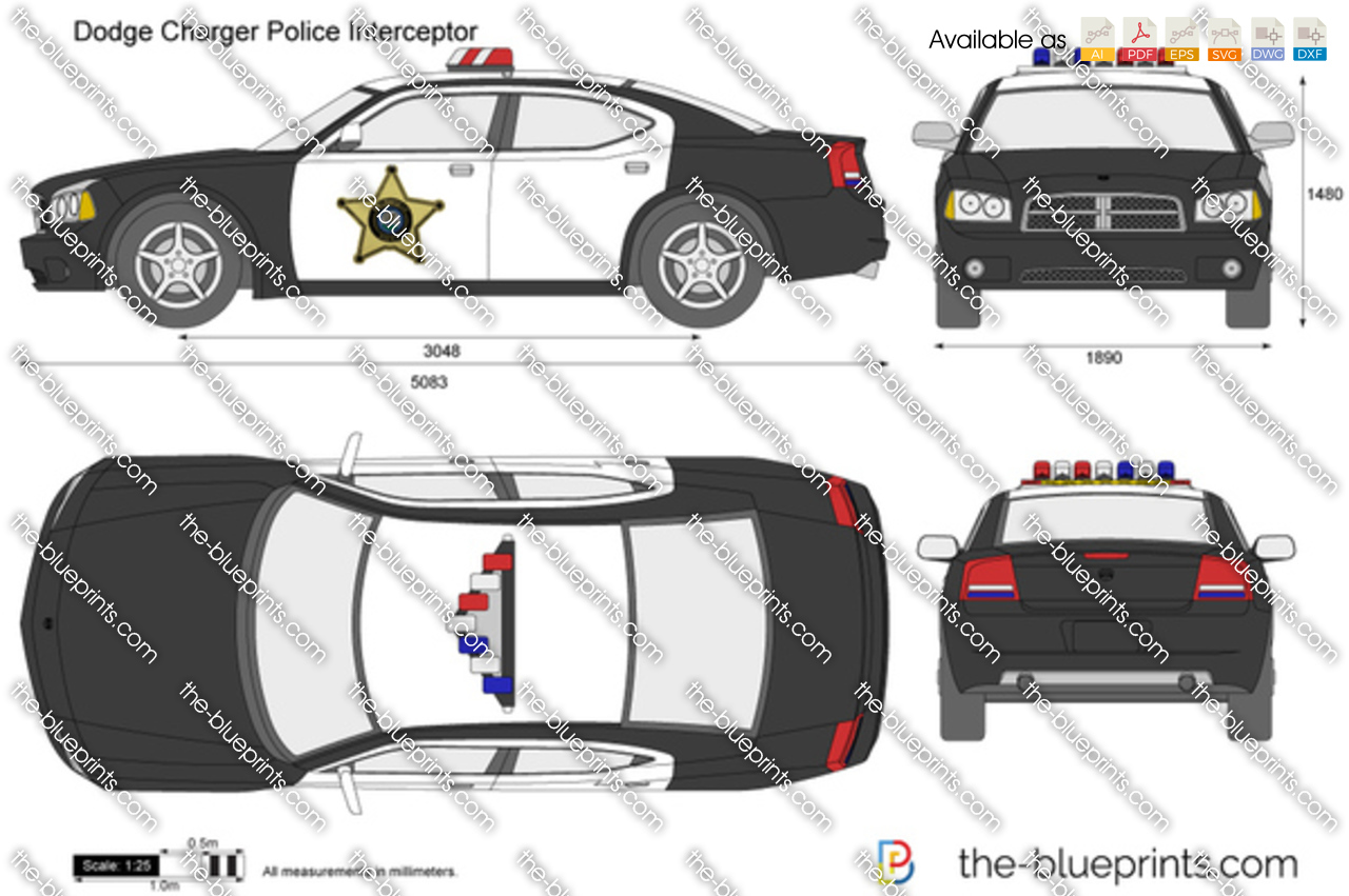 dodge charger police interceptor vector drawing. Black Bedroom Furniture Sets. Home Design Ideas