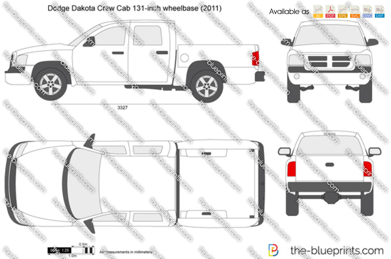 Dodge Dakota Crew Cab 131-inch wheelbase