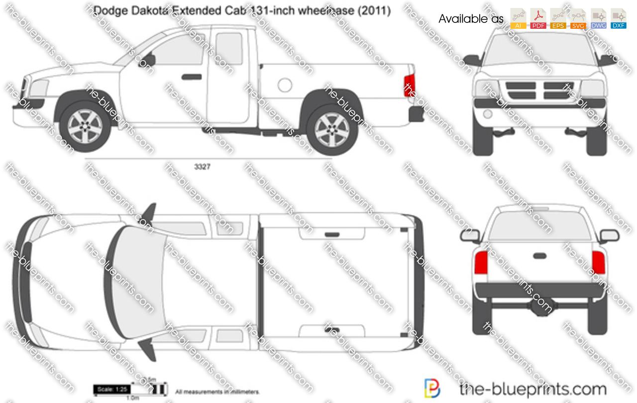 The Blueprints Com Vector Drawing Dodge Dakota