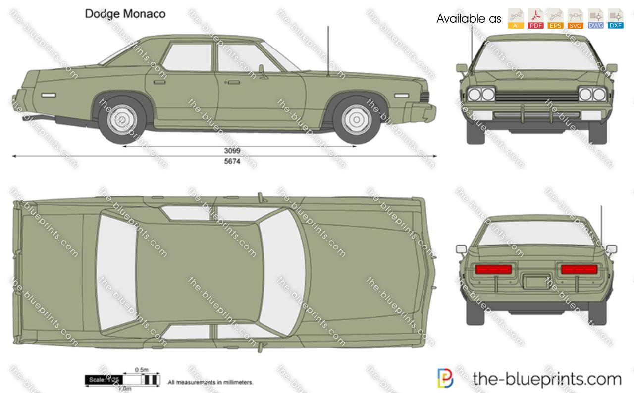 Dodge Monaco Vector Drawing