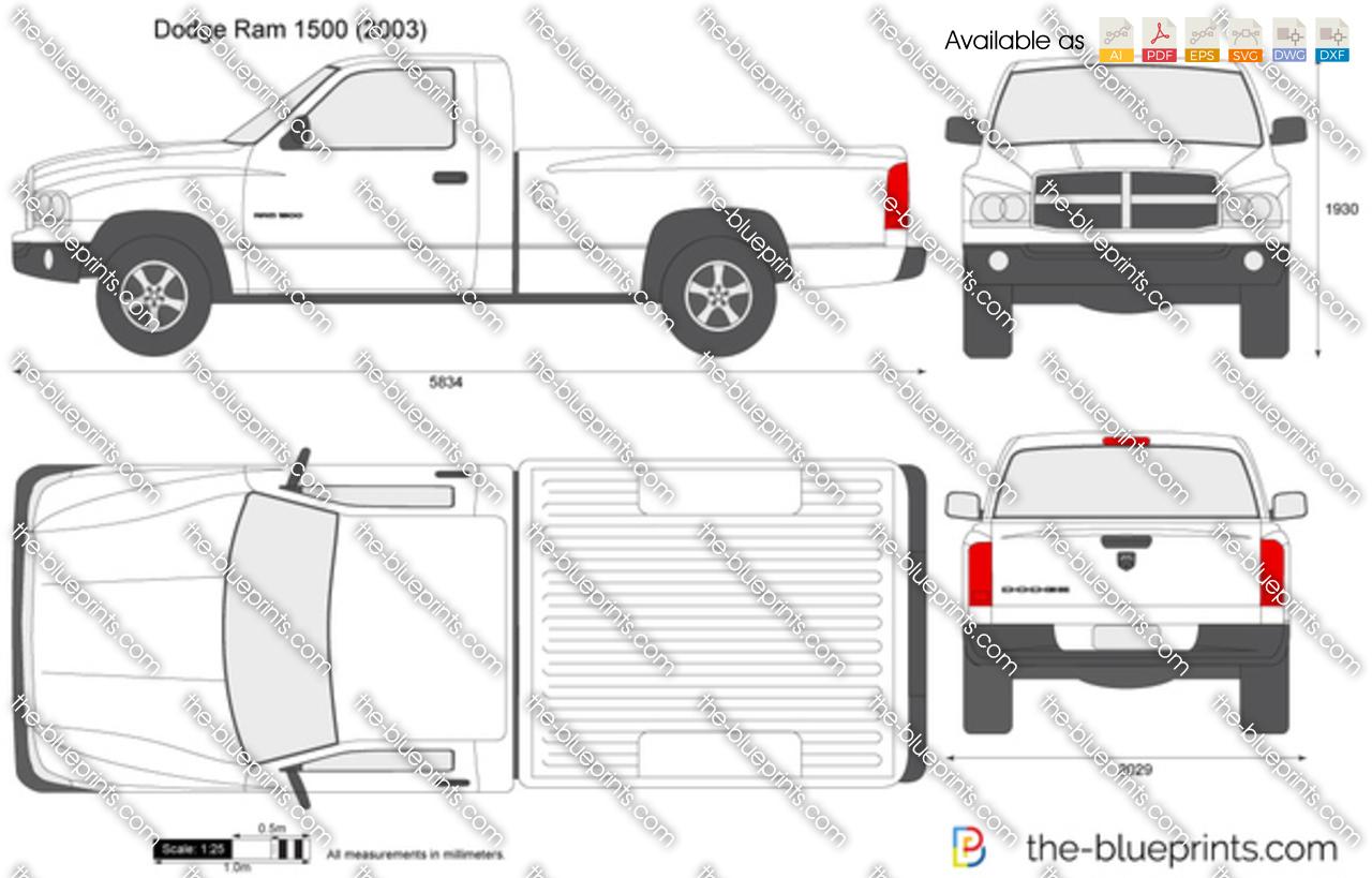 The Blueprints Com Vector Drawing Dodge Ram 1500
