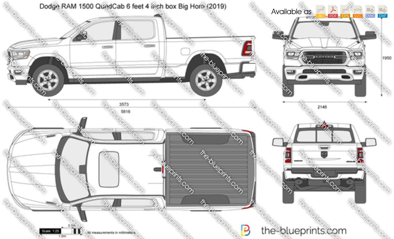Dodge RAM 1500 QuadCab 6 feet 4 inch box Big Horn