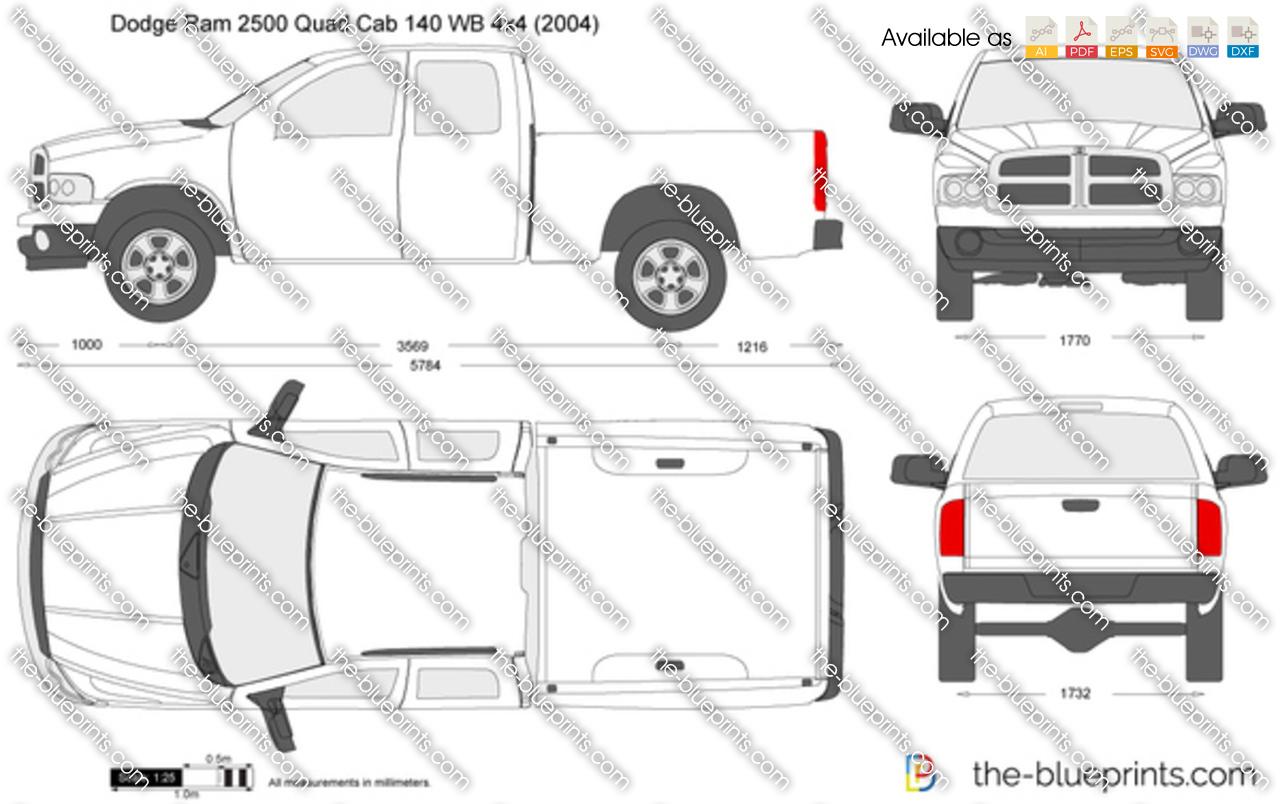 Dodge Ram 2500 Quad Cab 140 WB 4x4
