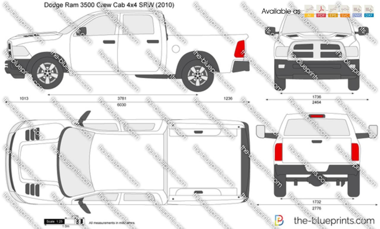 Dodge Ram 3500 Crew Cab 4x4 SRW 2012