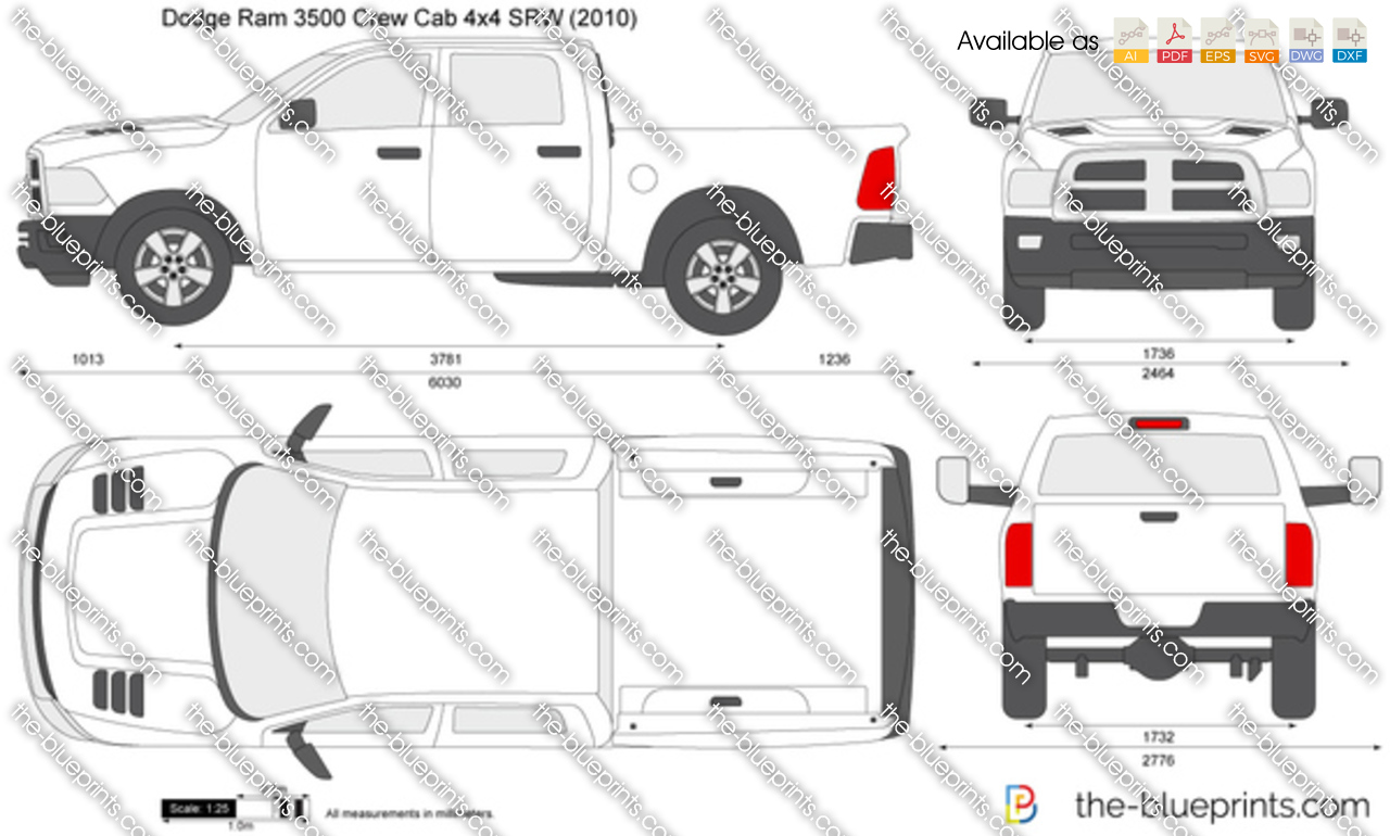Dodge Ram 3500 Crew Cab 4x4 SRW 2014