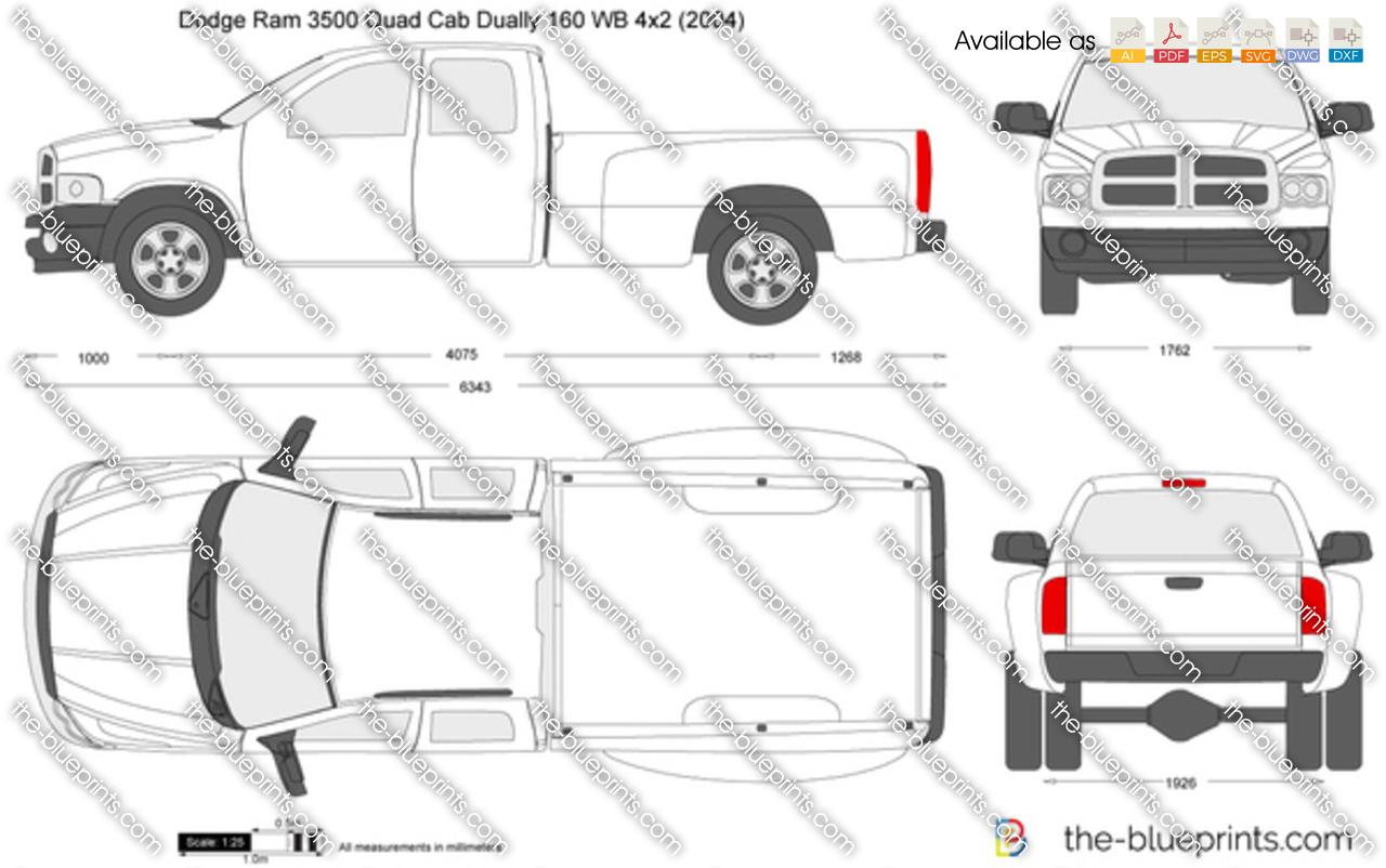 Dodge Ram 3500 Quad Cab Dually 160 WB 4x2 2003