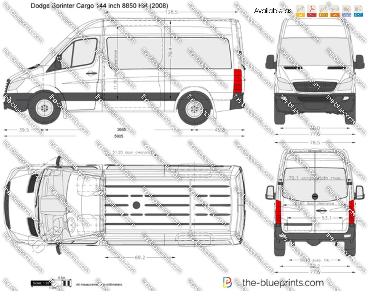 Dodge Sprinter Cargo 144 inch 8850 HR