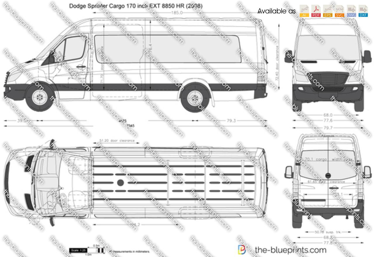 Dodge Sprinter Cargo 170 inch EXT 8850 HR