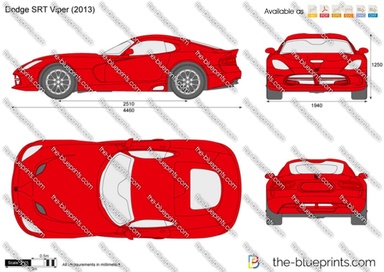 Dodge SRT Viper vector drawing