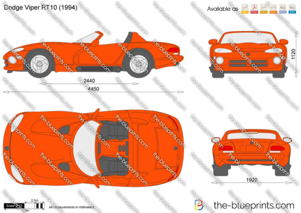 The Blueprints Com Vector Drawing Dodge Viper Rt 10