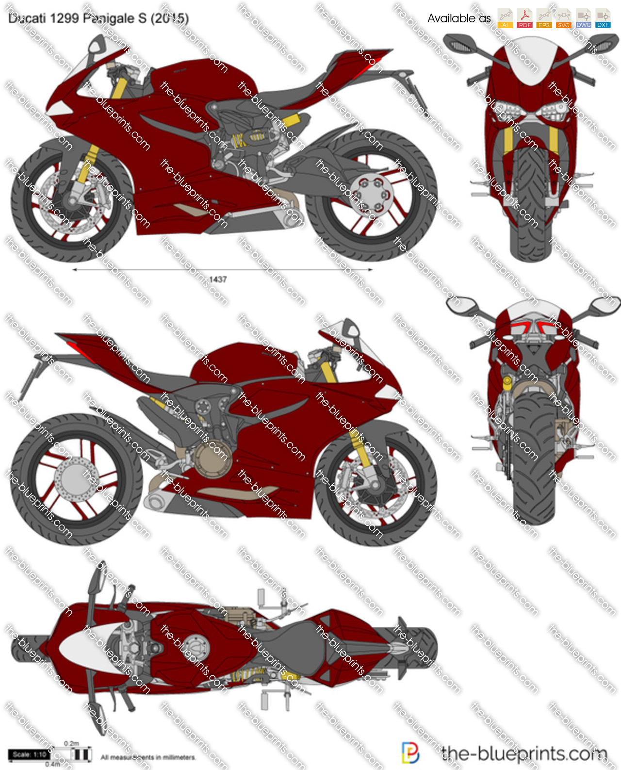 Ducati Panigale Blueprint Ducati 1299 Panigale s